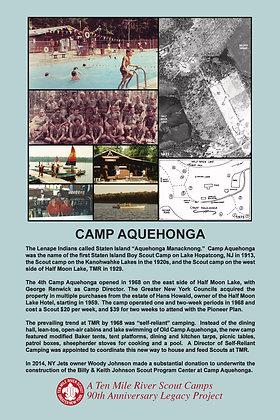Camp Aquehonga Historic Site Sign