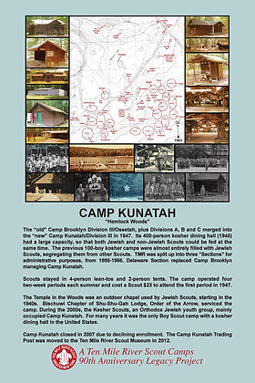Camp Kunatah Historic Site Sign