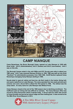 Camp Nianque Historic Site Sign