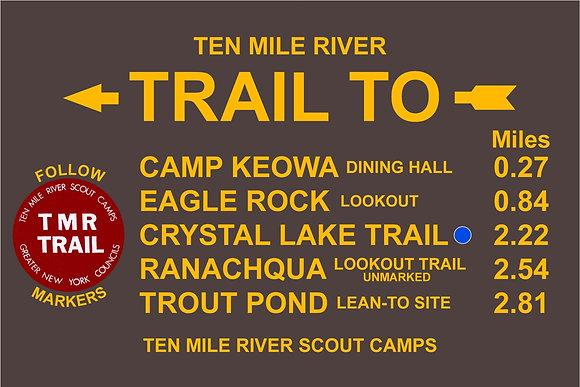 TMR Trail Sign (Camp Keowa, Southbound)