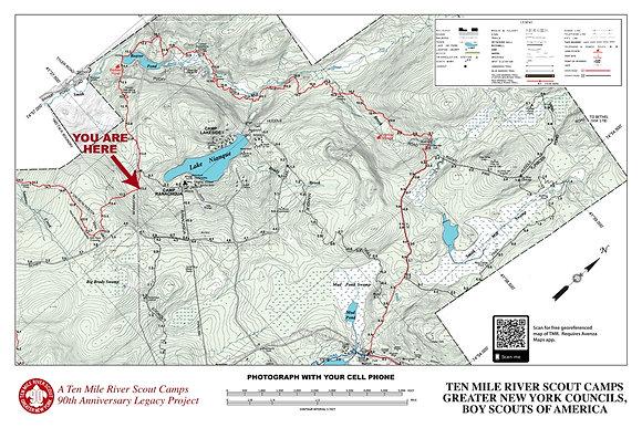 TMR Trail Map Sign (Camp Ranachqua, Northbound)