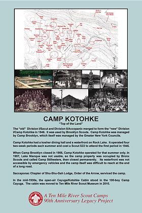 Camp Kotohke Historic Site Sign