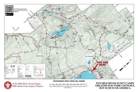 TMR Trail Map Sign (Camp Keowa, Northbound)