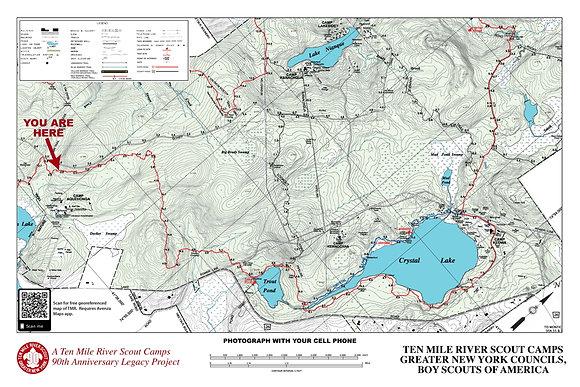 TMR Trail Map Sign (Camp Aquehonga, Northbound)