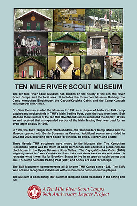 Ten Mile River Scout Museum Historic Site Sign