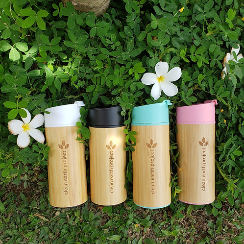 Small Bamboo Tumbler 350 mL | Hot and cold | Insulated Thermos