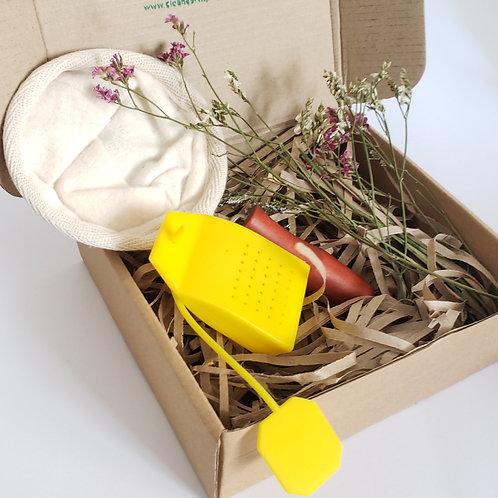 Eco friendly gift box - tea and coffee set