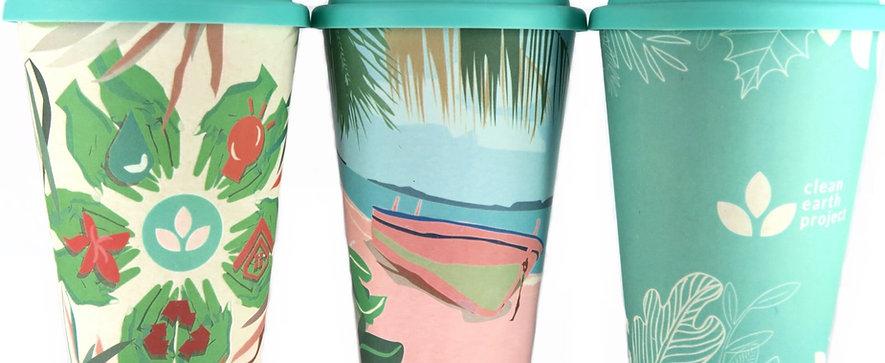 BAMFEE Bamboo Coffee Cup made of bamboo fiber 470ml