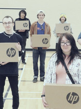 Proud SD57 students recieving their own personal laptops for their hard work in completing the Work Connect program with us.