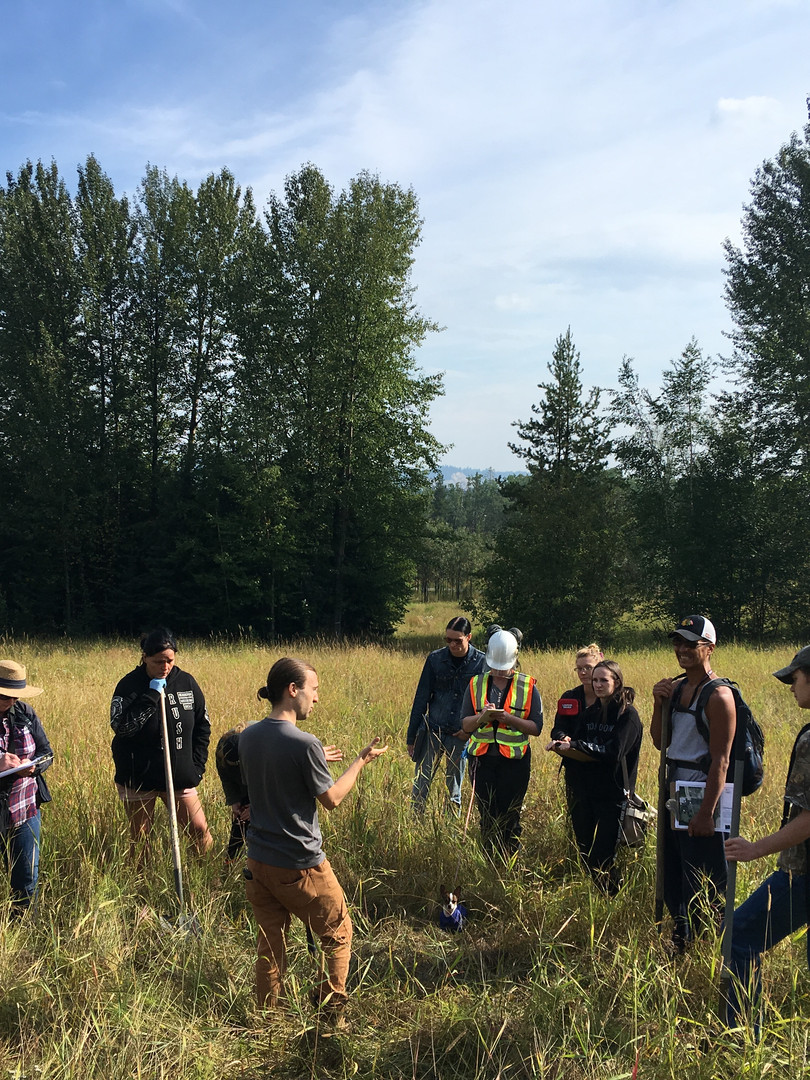 Learning about soil in Prince George during the QUEST Plus Environmental Monitoring program.