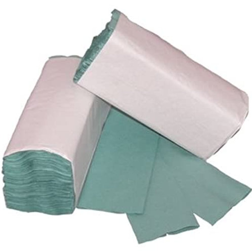Green 1 PLY C-FOLD Paper Hand Towels Multi Fold