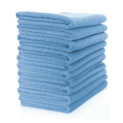 Microfibre Cloth - 10 Pack, Blue 37cm x 37cm