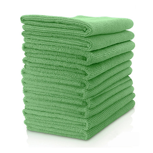 Microfibre Cloth - 10 Pack, Green 37cm x 37cm