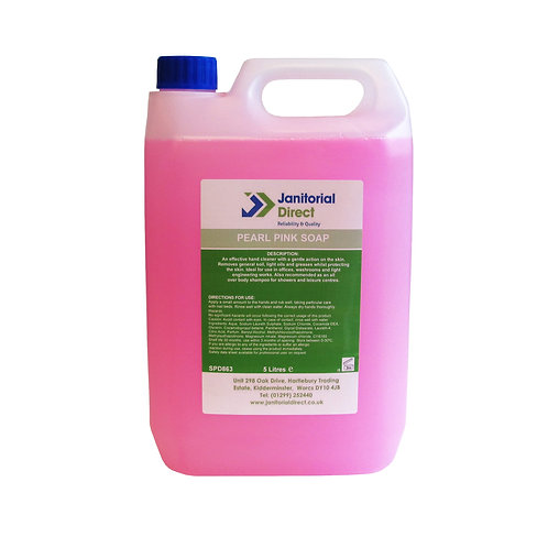 Liquid Pearlised Pink Hand Wash - 5Ltr