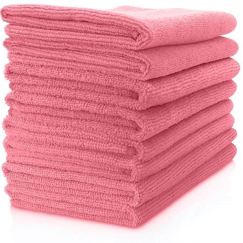 Microfibre Cloth - 10 Pack, Pink 37cm x 37cm