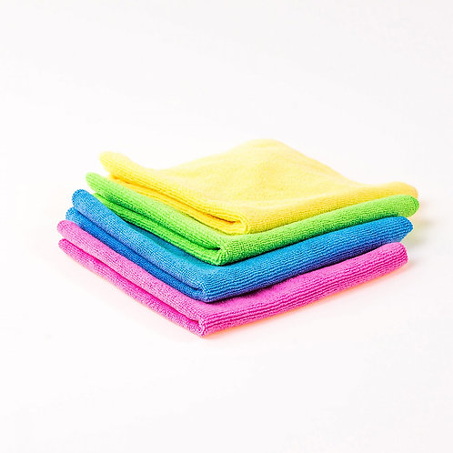 Microfibre Cloth - 10 Pack, Blue, Red, Green Yellow 37cm x 37cm