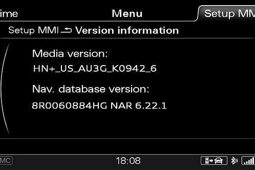 AUDI A4 A5 Q5 Q7 MMI 3G+ NORTH AMERICA 2021 MAPS FULL PACKAGE