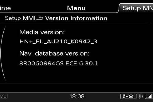 AUDI A1 MMI 3G+ PLUS SW 0942 + 2020 MAPS FULL PACKAGE