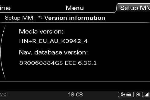 AUDI A6 A7 A8 Q3 MMI 3G+ PLUS SW 0942 + 2020 MAPS