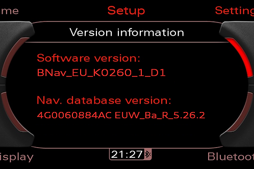 AUDI MMI 3G MAPS BASIC SW 0260 + 2020 MAPS SD CARD