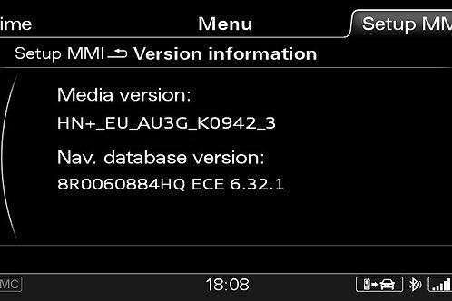 AUDI A4 A5 Q5 Q7 MMI 3G+ PLUS SW 0942 + 2021 MAPS