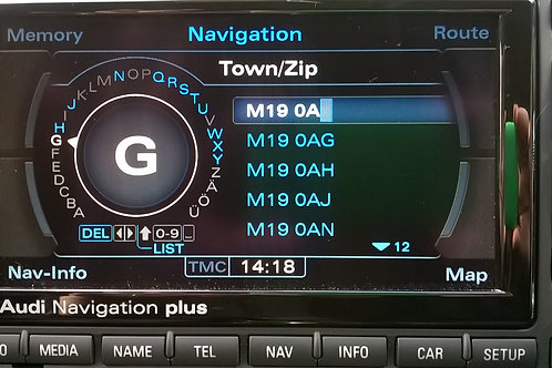 Audi RNS-E 2016 Map DVD 2 Inc UK 7 Digit Postcodes