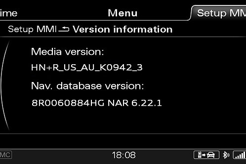 AUDI A6 A7 A8 Q3 MMI 3G+ NORTH AMERICA 2021 MAPS FULL PACKAGE