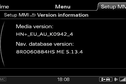 AUDI A6 A7 A8 Q3 MMI 3G+ PLUS MIDDLE EAST 2021 MAPS FULL PACKAGE
