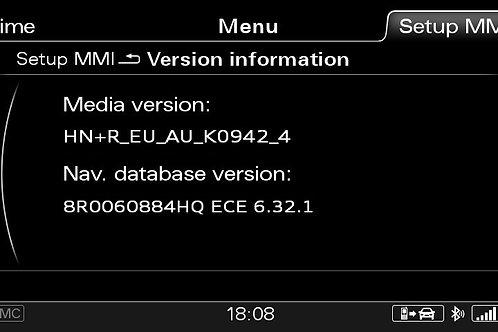 AUDI A6 A7 A8 Q3 MMI 3G+ PLUS SW 0942 + 2021 MAPS