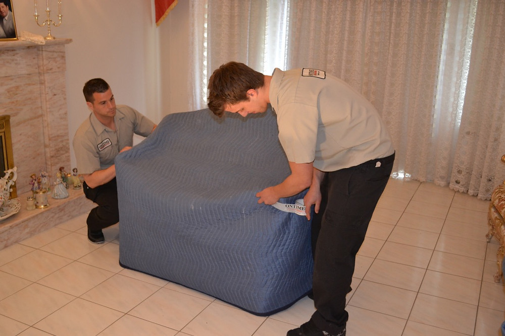 blankets and pillows can be used to pack furniture