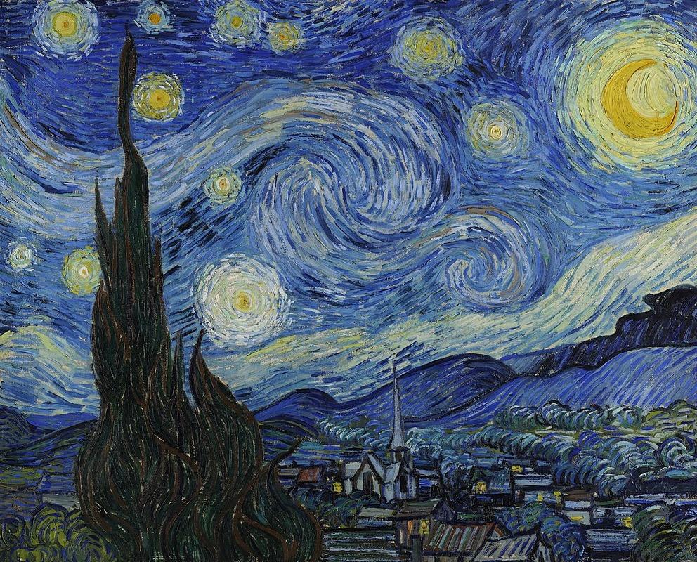 A Noite Estrelada de Van Gogh - Arte Cósmica - Cosmopolita