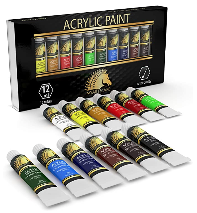 Set of Acrylic Paint