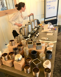 Candle Workshop Setup, Carmel, CA