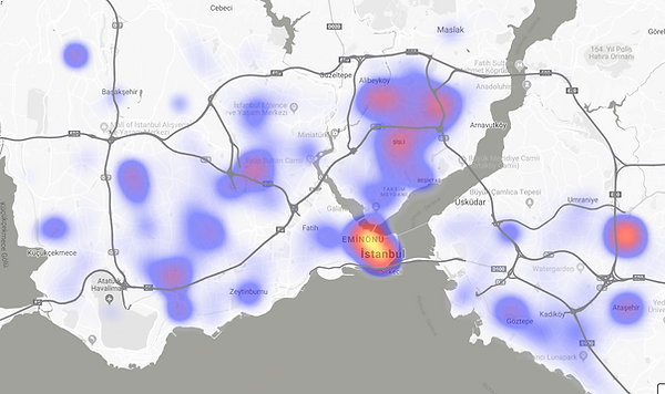 Heat Map of CRM database