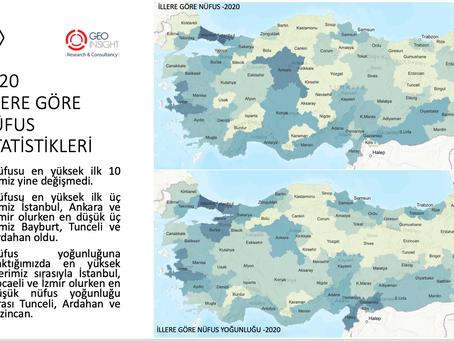 2020 Nüfus Verilerini Harita ile İnceleyelim