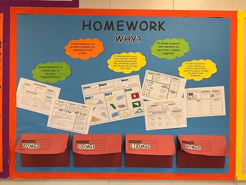 homework display board