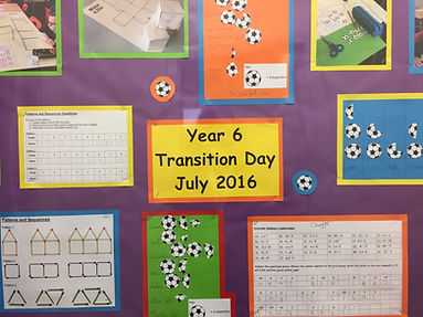 Poster showing transition day activities in maths