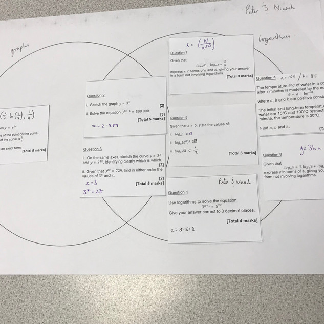 Logs and exponentials sorting activity