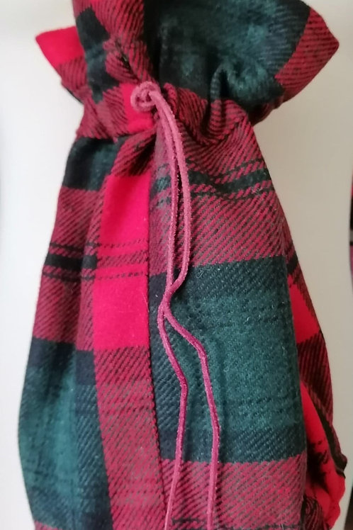 Bourse en tissu écossaise