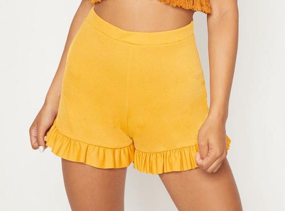 Pretty Little Thing Yellow Shorts (£8)