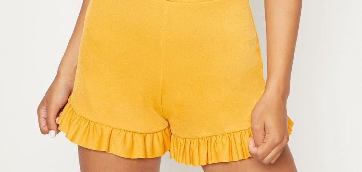 Pretty Little Thing Yellow Shorts (£8)