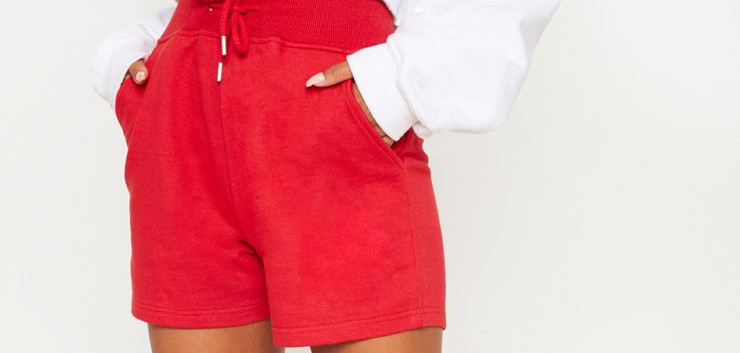 Pretty Little Thing Red Shorts (£12)