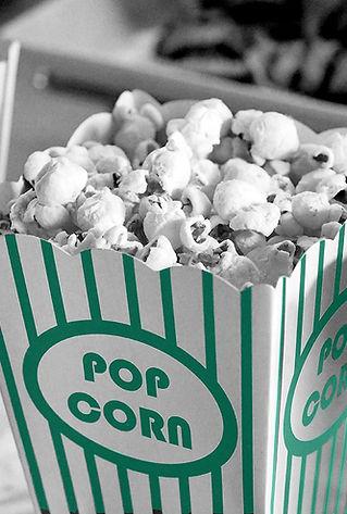 Popcorn black and white turqoise