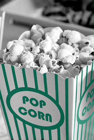 Popcorn black and white turqoise
