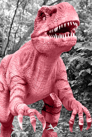 toy dinosaur jurassic world black and white pink