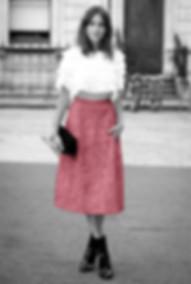 Alexa Chung black and white pink fashion