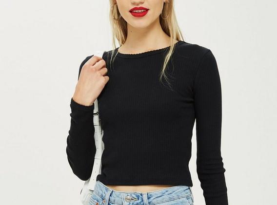 Topshop Long Sleeved Black Top (£12)