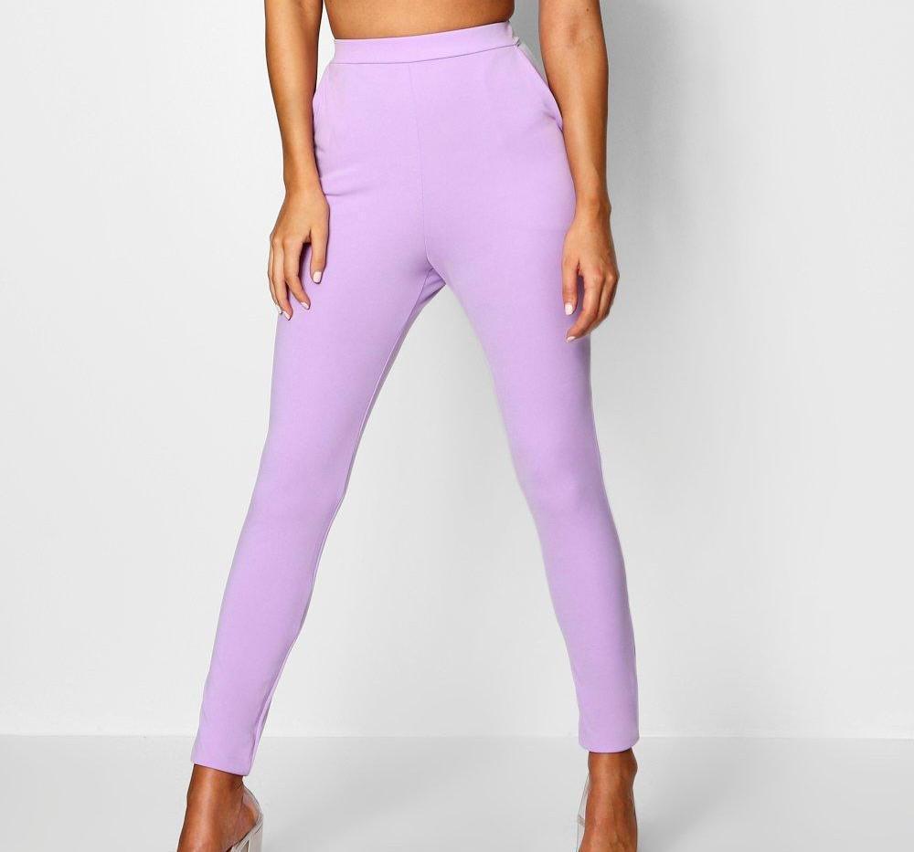 Boohoo Scuba Skinny Trousers (£14)