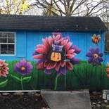 Shed Mural Artist Collaboration for Junebug 2015