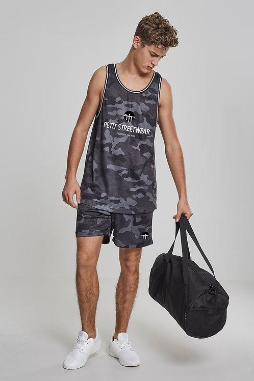 Vest + Shorts Camo Mesh